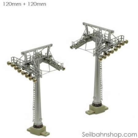 JC 50300 Double Pack of H0- Scale Towers, 120mm