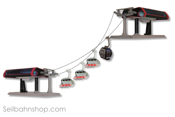 JC 84491 Cable car Profiset black/red
